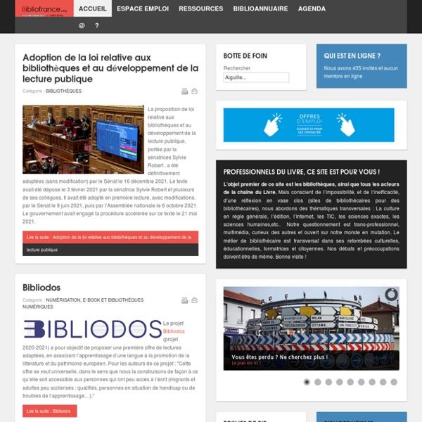 Page d'accueil de Bibliofrance.org