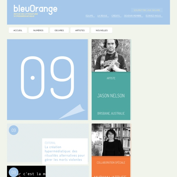 Bleuorange : littérature hypermédiatique