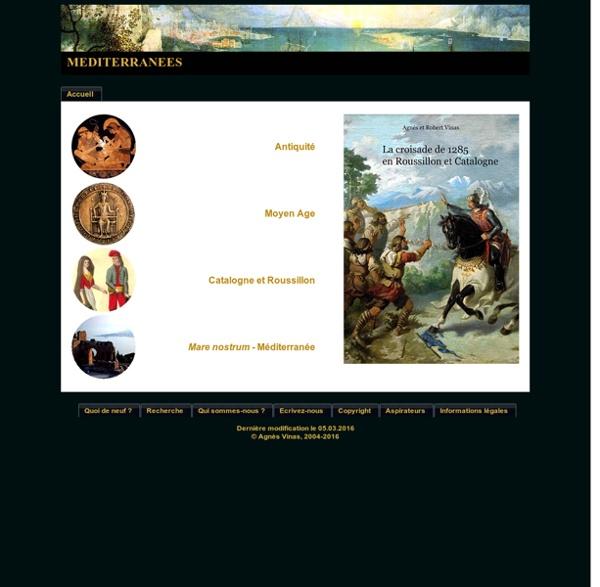 Page d'accueil du site Méditerranées