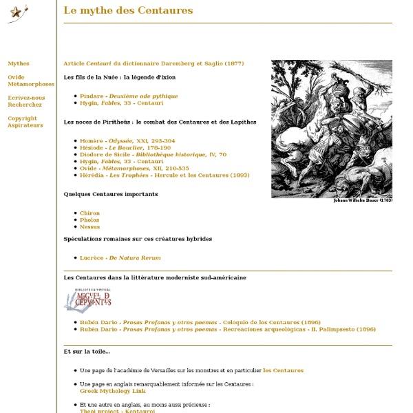 Mythe des Centaures