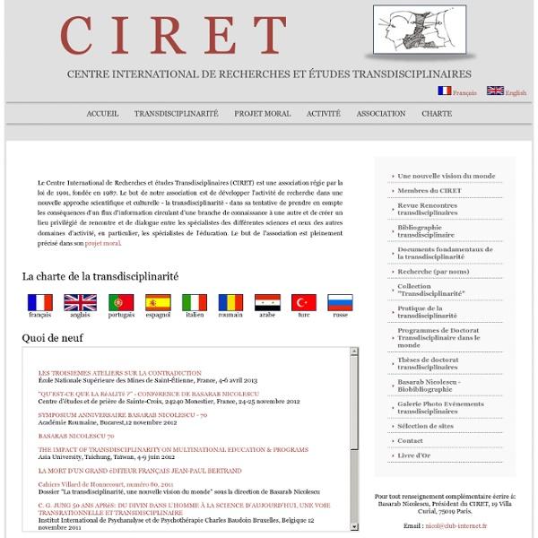 Page d'accueil du CIRET