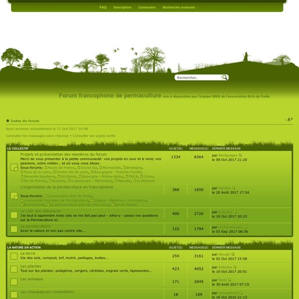 Forum francophone de permaculture