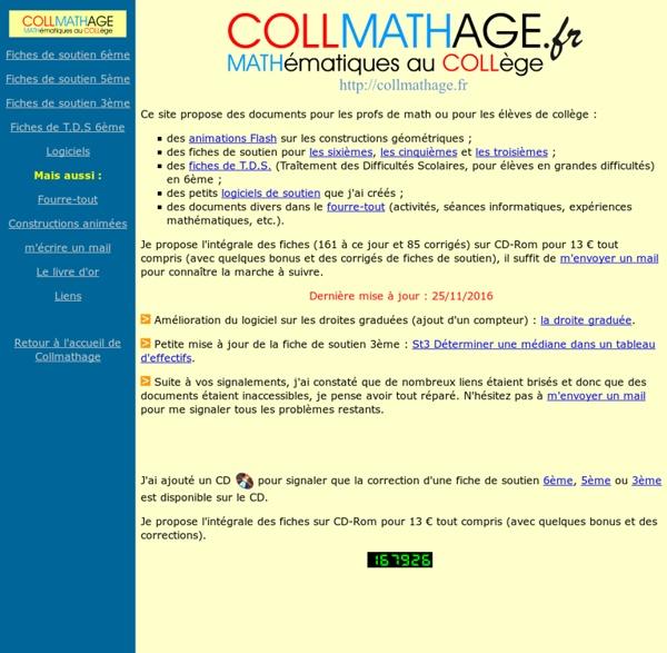 Page des cadres de mathématiques