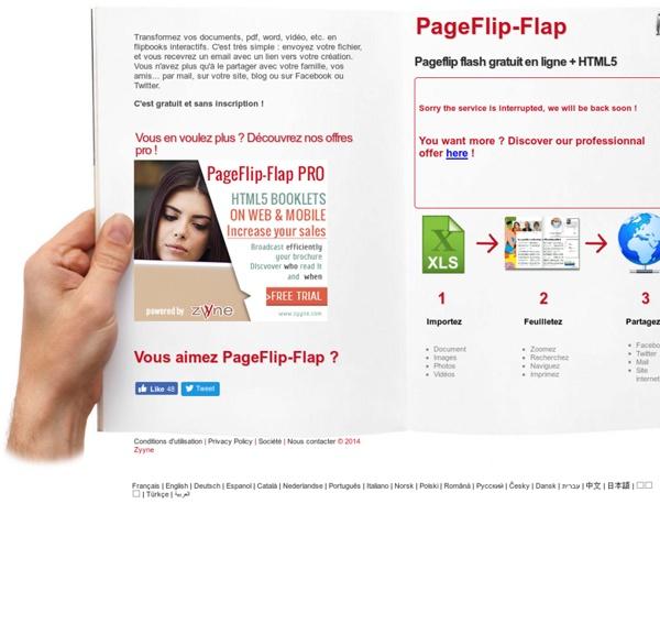 Pageflip flash gratuit en ligne