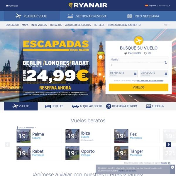Página oficial de Ryanair