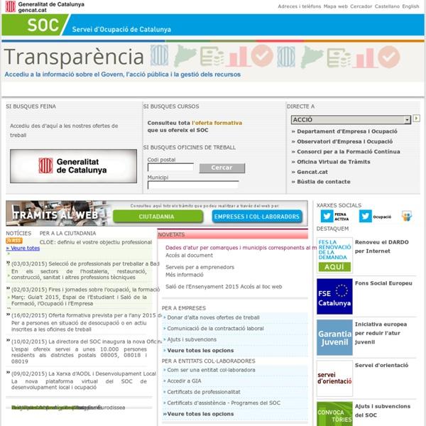 Pàgina principal del web del SOC