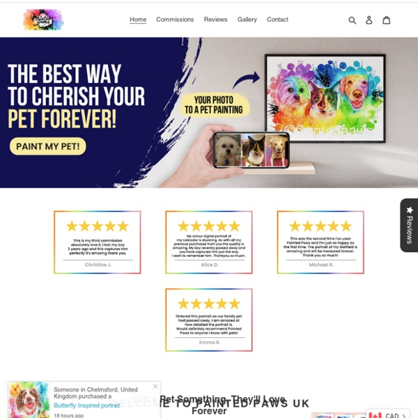 Pet portraits from your photos – painted-paws