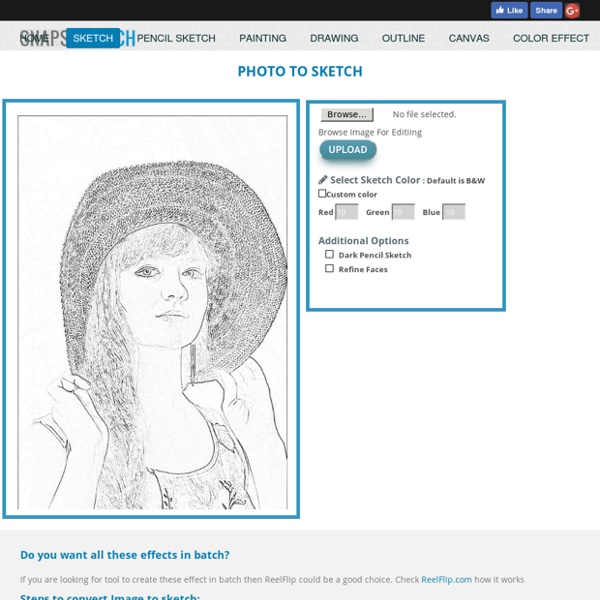 Online tool to create sketch, painting, drawing, outline image effects.