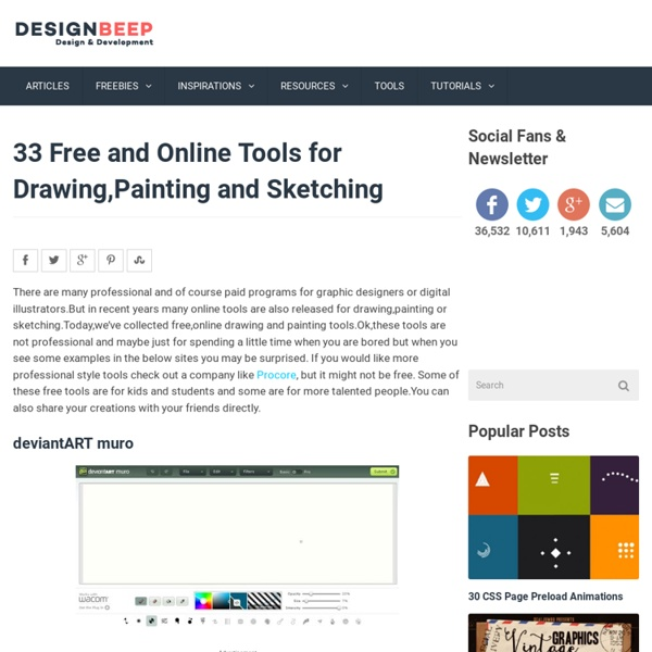 33 Free and Online Tools for Drawing,Painting and Sketching