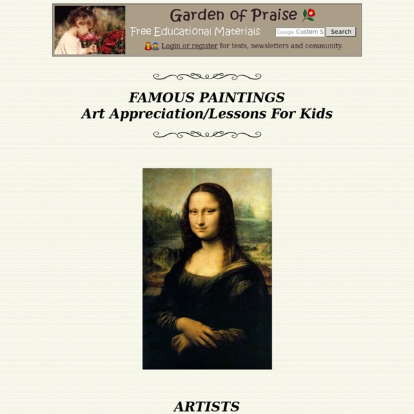Famous Paintings Art Appreciation Lessons for Kids