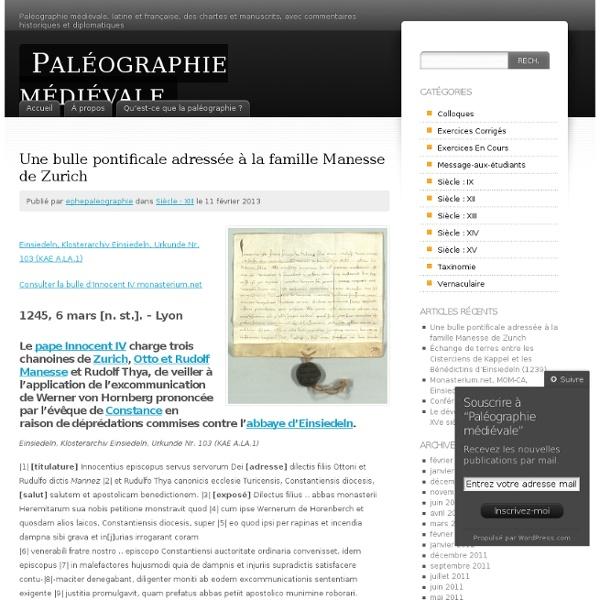 Paléographie médiévale