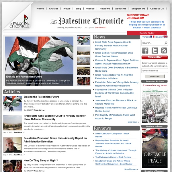 Latest News, Palestine, Middle East, Commentary & Analysis