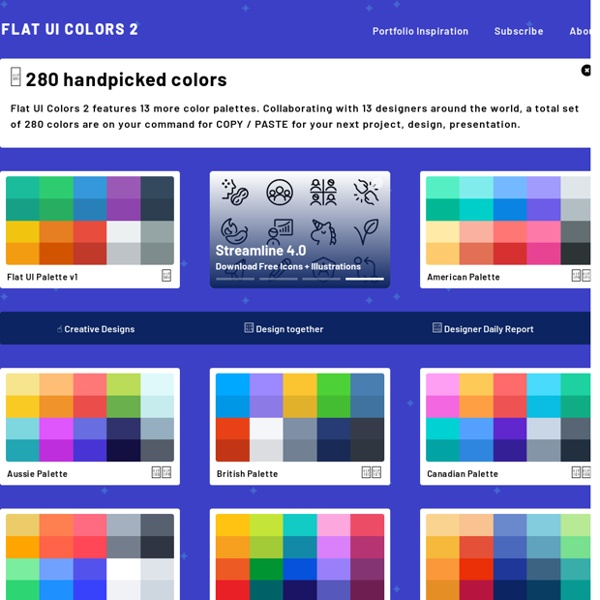 Flat UI Colors □ 280 handpicked colors ready for COPY & PASTE