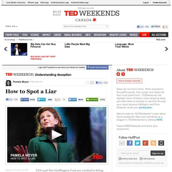 Pamela Meyer: How to Spot a Liar