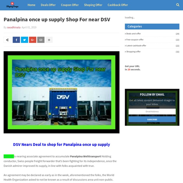 Panalpina once up supply Shop For near DSV