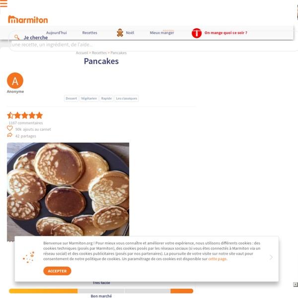 Pancakes : Recette de Pancakes