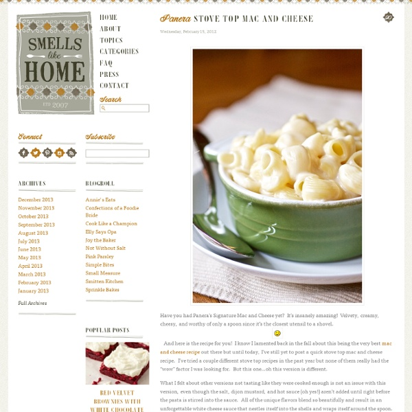 Panera's Stove Top Mac and Cheese