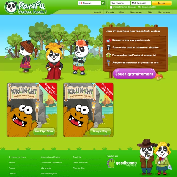 Panfu - jeux en ligne enfants, sites enfants & jeux d'apprentissage enfants