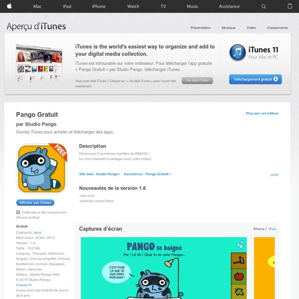 Pango Gratuit pour iPhone, iPod touch et iPad dans l'App Store sur iTunes