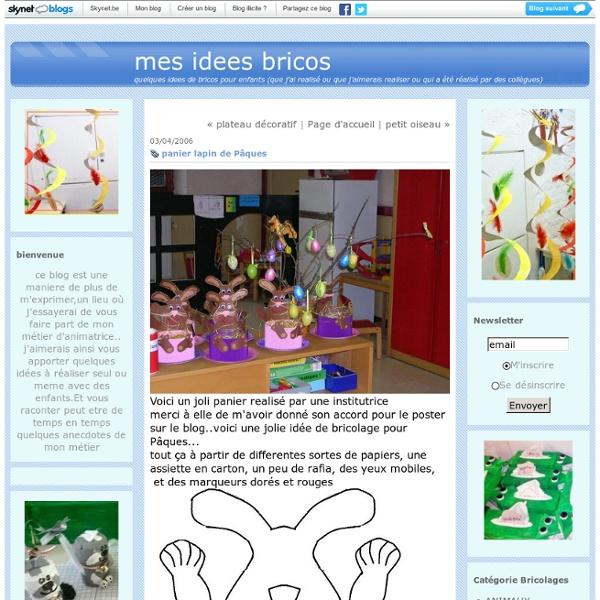 Panier lapin de Pâques : mes idees bricos