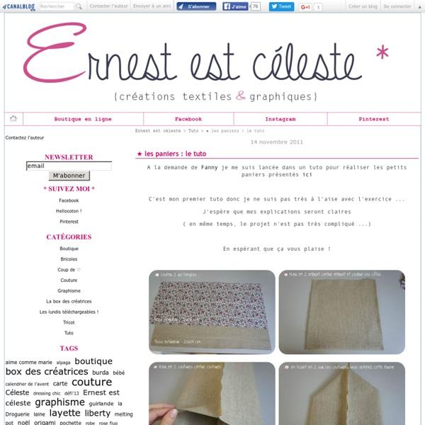 ★ les paniers : le tuto - Ernest est céleste