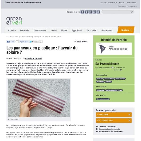 Les panneaux en plastique : l'avenir du solaire ?