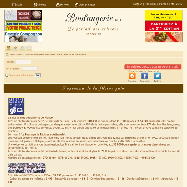 Panorama Boulangerie.net