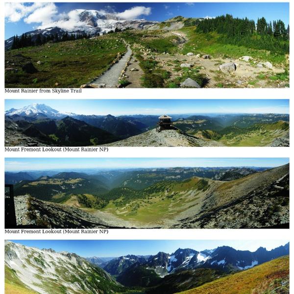 Panorama California, Oregon, Washington 2008 (Crater Lake, Olympic, Mount Rainier, North Cascades, Newberry Crater)