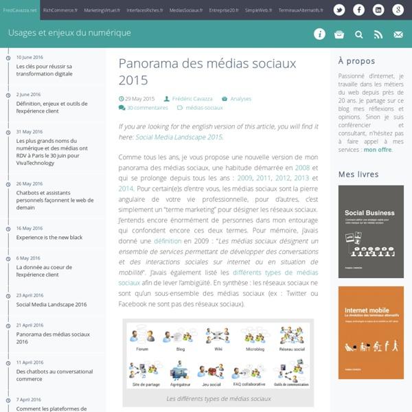 Panorama des médias sociaux 2015