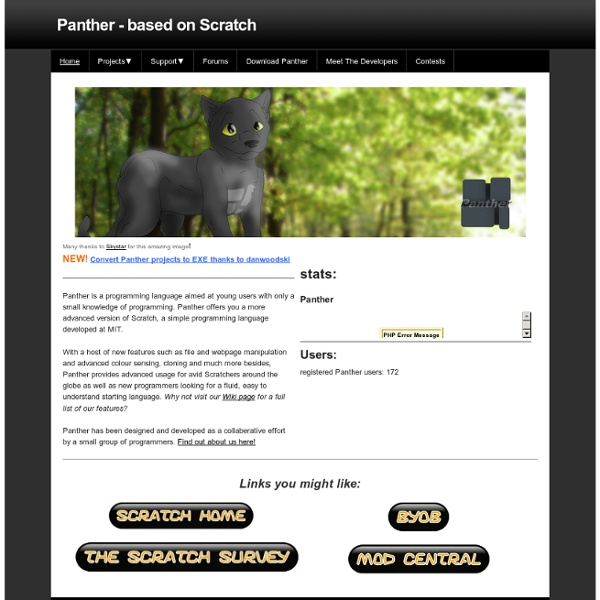 Panther - based on Scratch - Home