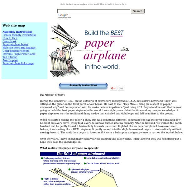 Paper airplane - The best paper airplane in the world!