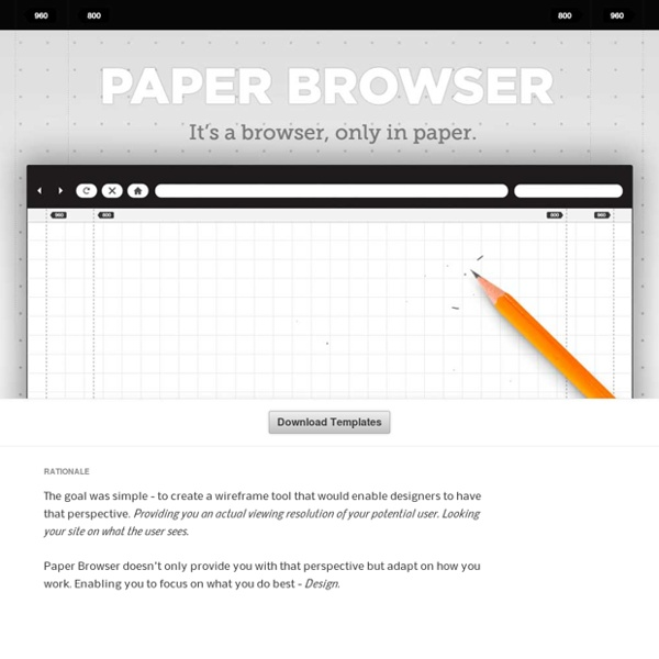 Paper Browser: It's a Browser only in Paper
