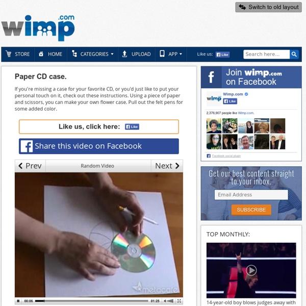 Paper CD case. [VIDEO]