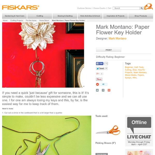 Paper Flower Key Holder / Mark Montano