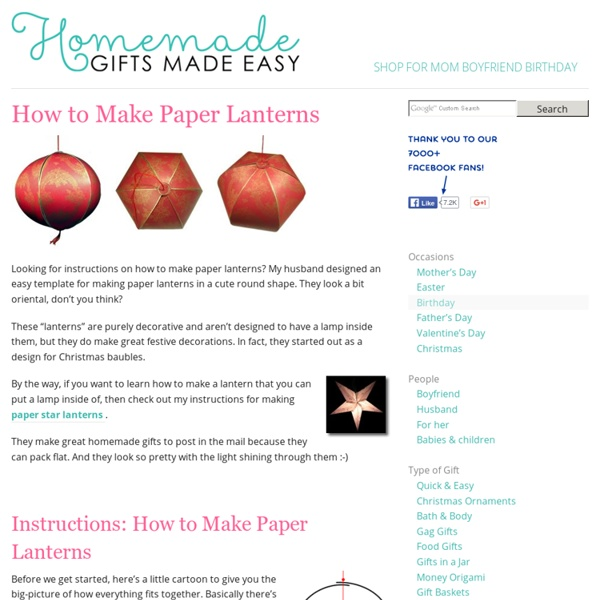 How to Make Paper Lanterns - Cute Round Oriental Style