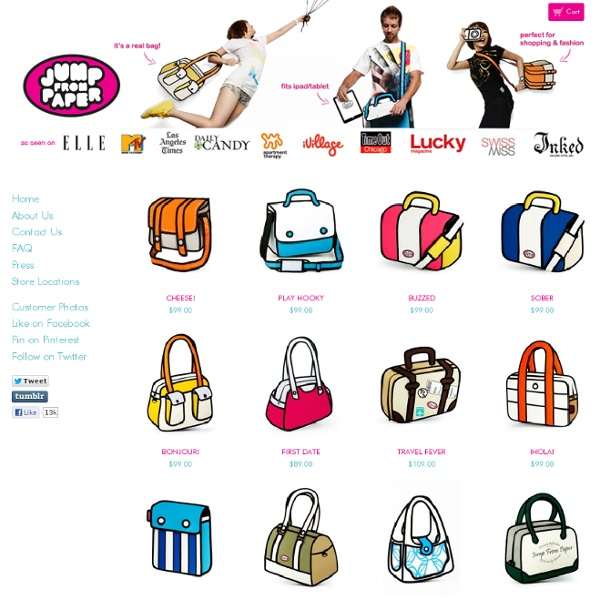 Jump from Paper Bags and Satchels - Perfect for iPad/Tablets / Home