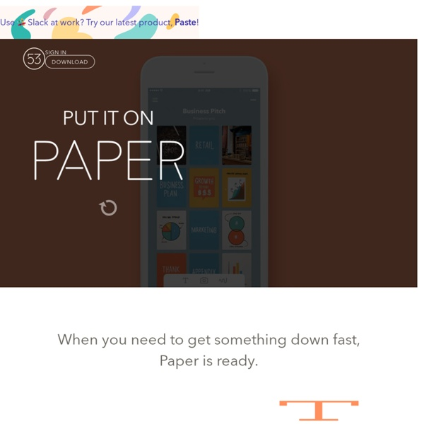 Paper & Pencil by FiftyThree