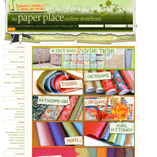 The Paper Place Online Storefront