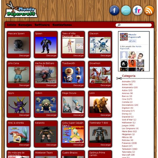 Mundo Papercraft, Descarga modelos de papercraft gratis