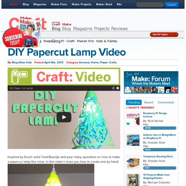 DIY Papercut Lamp Video
