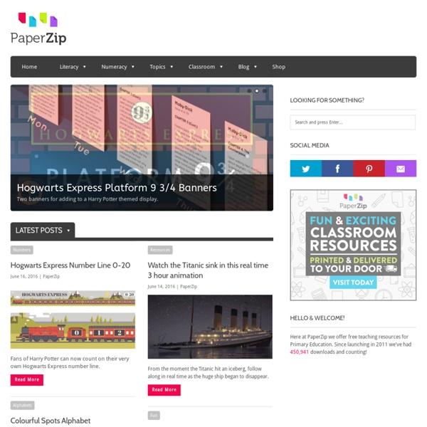 PaperZip - Free Printable Teaching Resources