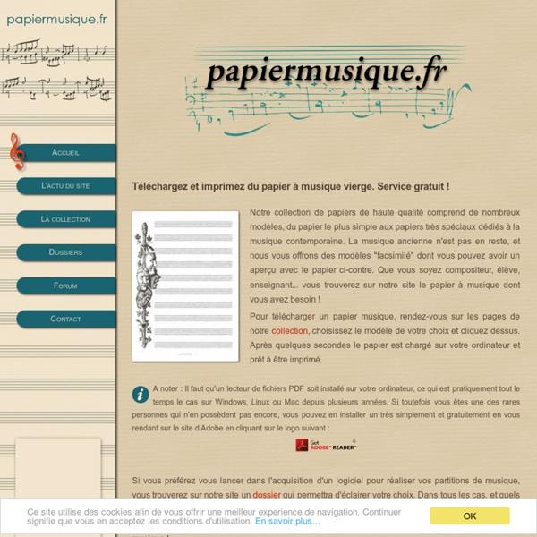 Papier Musique - Le site du papier à musique à imprimer