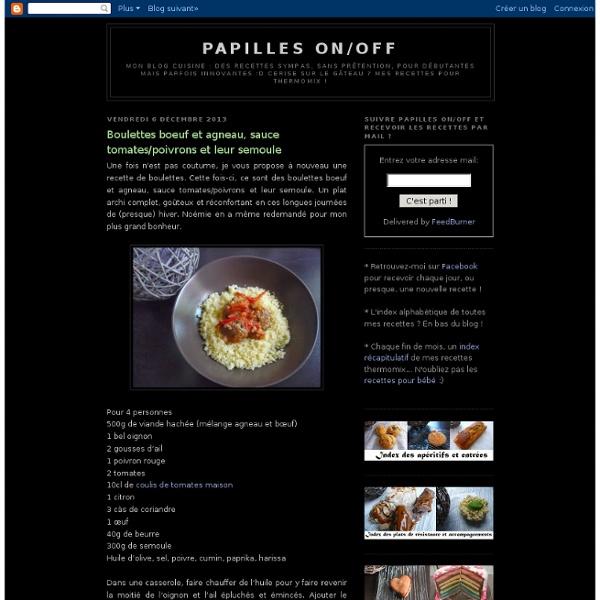 Boulettes boeuf et agneau, sauce tomates/poivrons et leur semoule