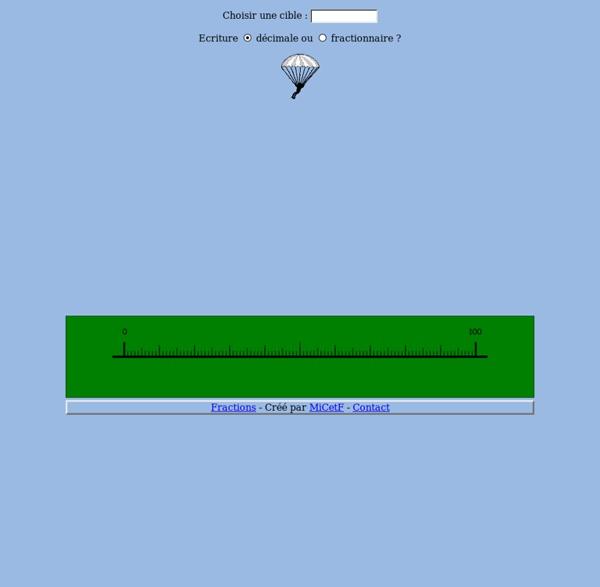 Parachutiste - Intercalation des nombres décimaux