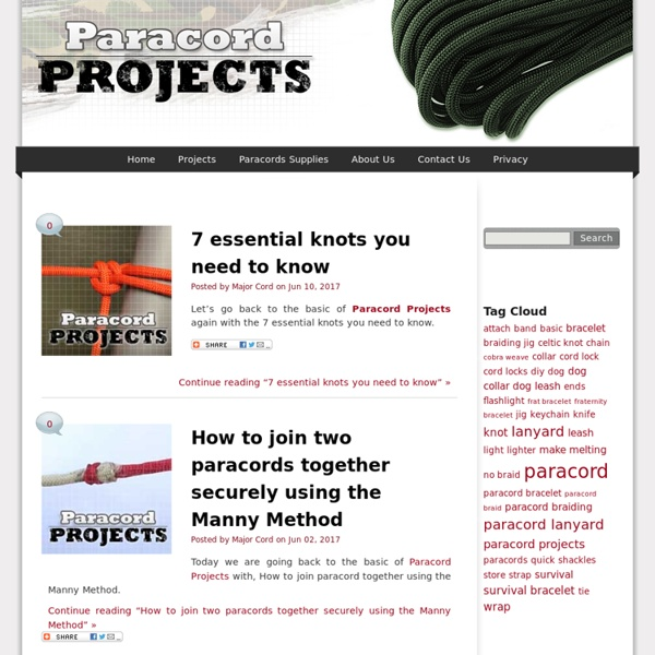 Paracord Projects Instructions, Videos, Reviews, Paracord Lanyard and Supplies
