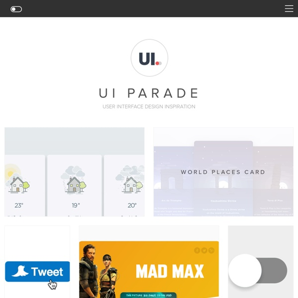 Ui Parade – User interface design inspiration & design tools