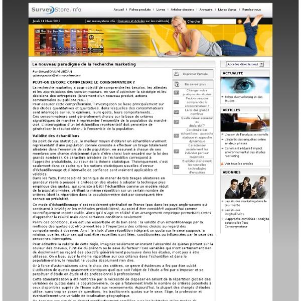 Dossier spécial : Le nouveau paradigme de la recherche marketing