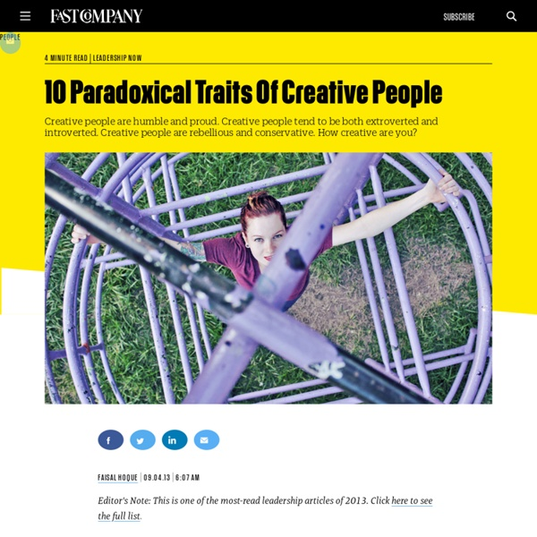 10 Paradoxical Traits Of Creative People