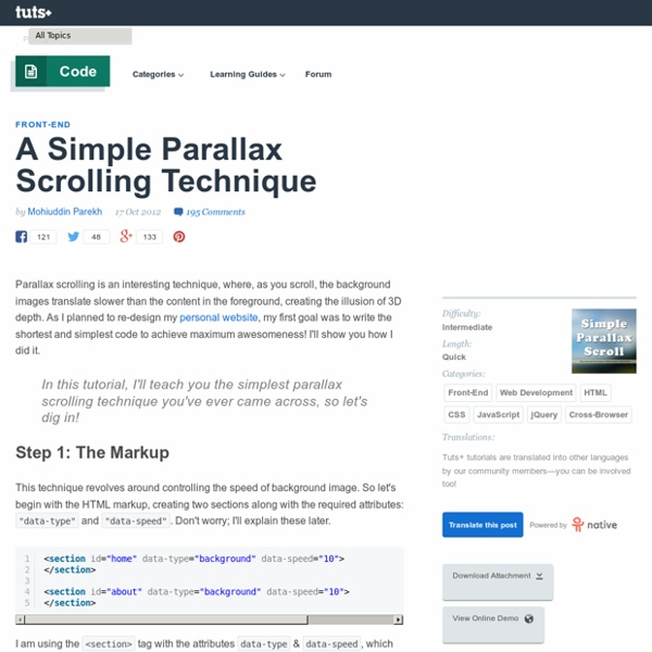A Simple Parallax Scrolling Technique