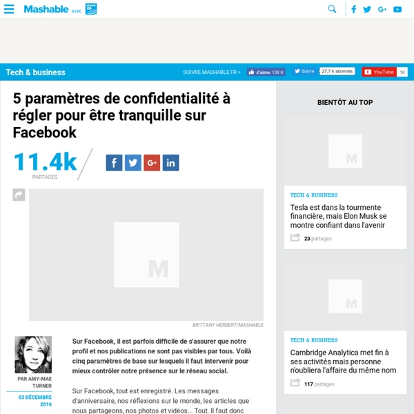 5 paramètres de confidentialité à régler pour être tranquille sur Facebook